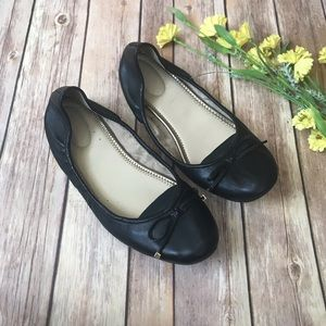 Marc Fisher Black Leather Flats
